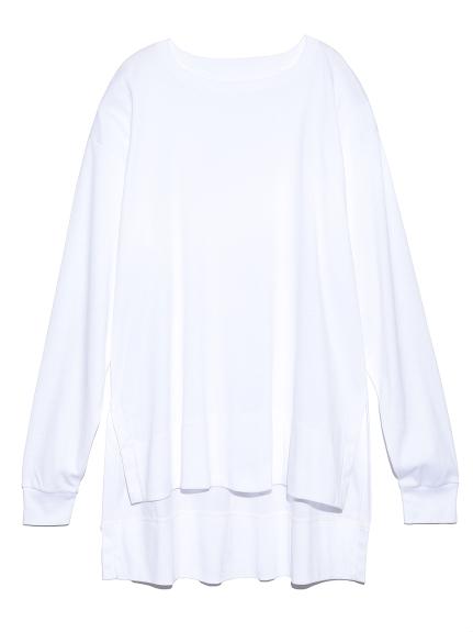 スリットロングTシャツ(WHT-F)
