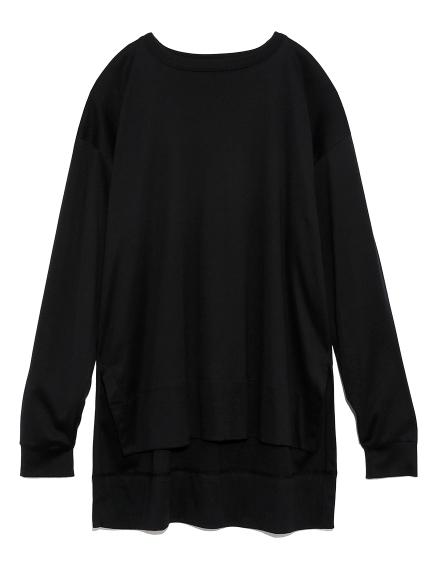 スリットロングTシャツ(BLK-F)
