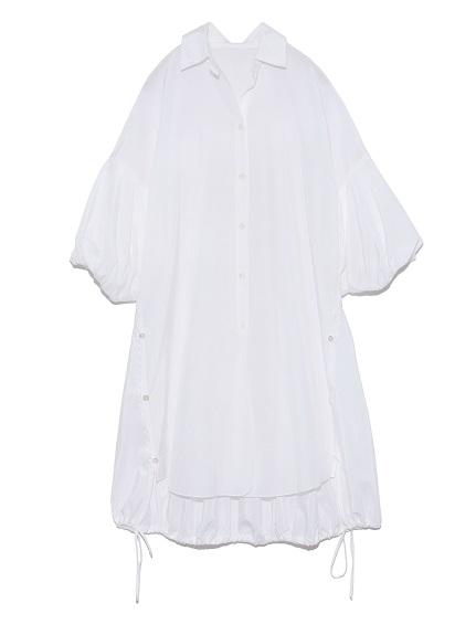 パフスリーブロングシャツ