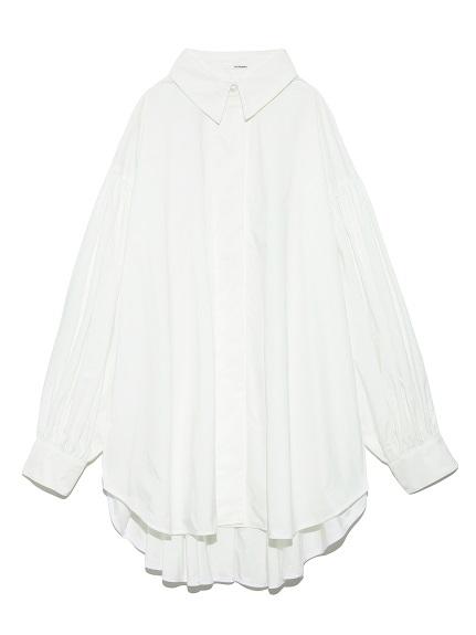 ボリュームスリーブドレスシャツ
