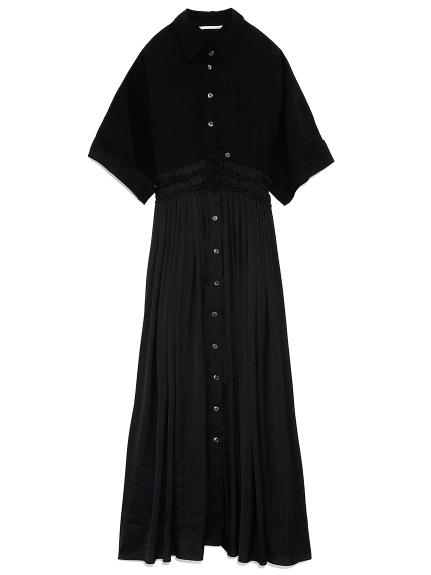 ギャザードッキングドレス(BLK-0)