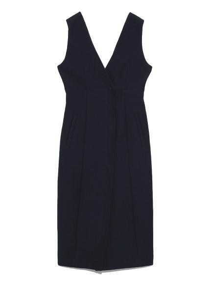 ノースリーブタイトドレス(NVY-0)