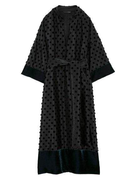 カットジャガードドレス
