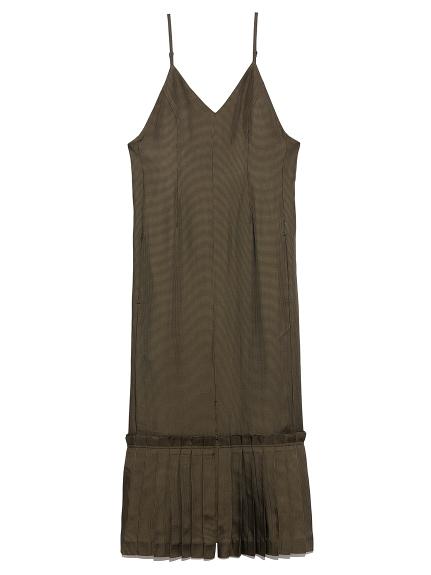 ヘムプリーツ キャミドレス(OLV-F)