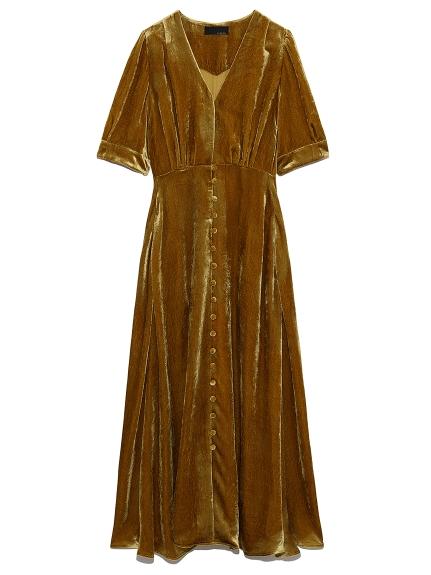 ベルベッドドレス(YEL-0)