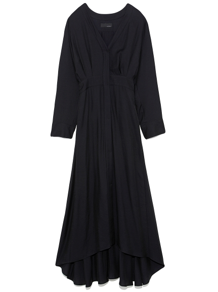 ロング シャツドレス