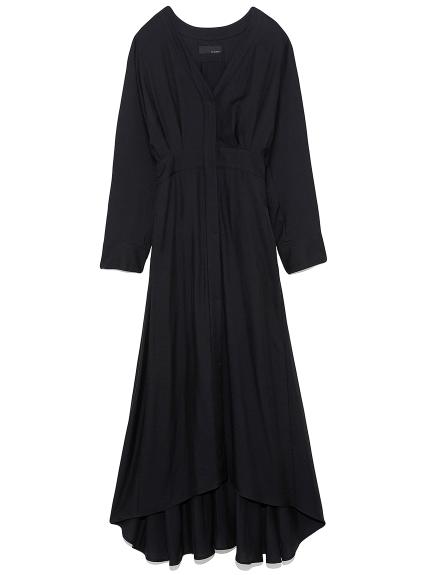 ロング シャツドレス(BLK-0)