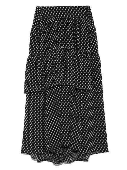カットジャガードロングスカート(BLK-0)