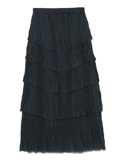 ワッシャースリットスカート(GRY-0)