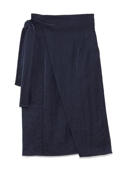 ワイドベルト ラップスカート(NVY-0)