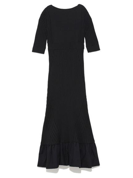 【公式限定販売】ラッフルヘムニットドレス