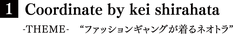 "[1] Coordinate by kei shirahata -THEME- ""ファッションギャングが着るネオトラ"""