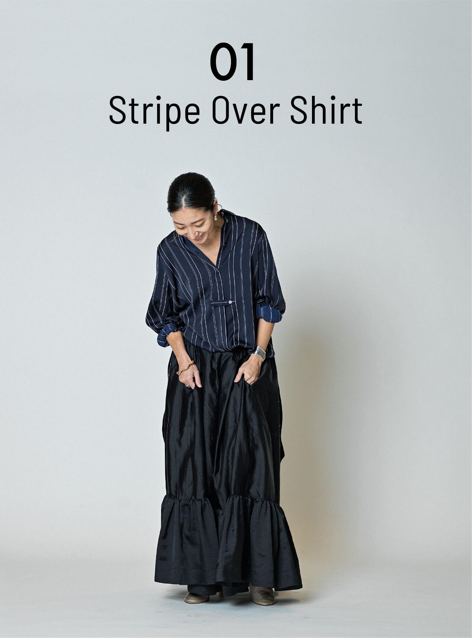 01 Stripe Over Shirt