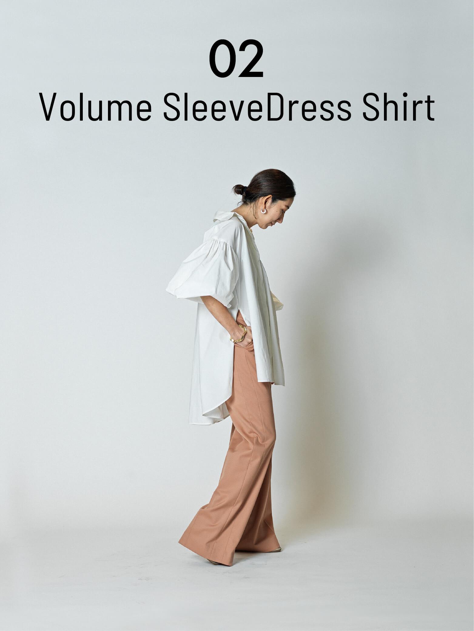 02 Volume SleeveDress Shirt