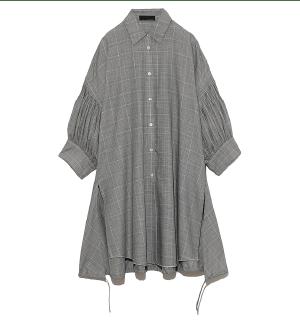 Tuck Sleeve Shirt グレー