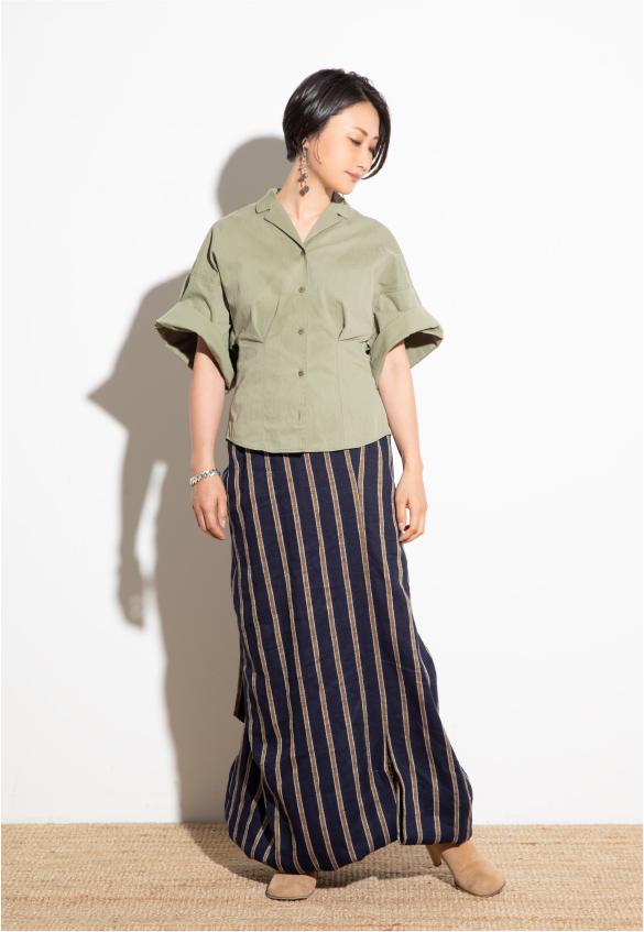 Military Shirt, Wrap Long Dress