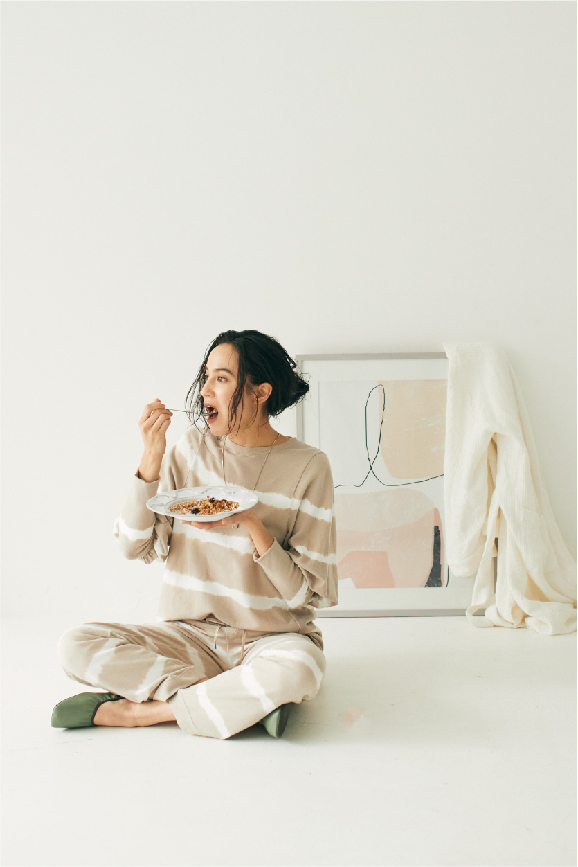 Stay Home Style Long T-shirt
