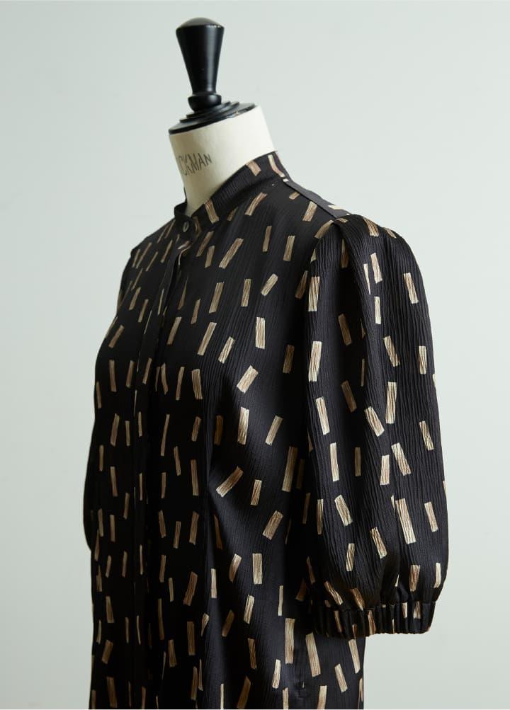 Stand collar Shirt Dress