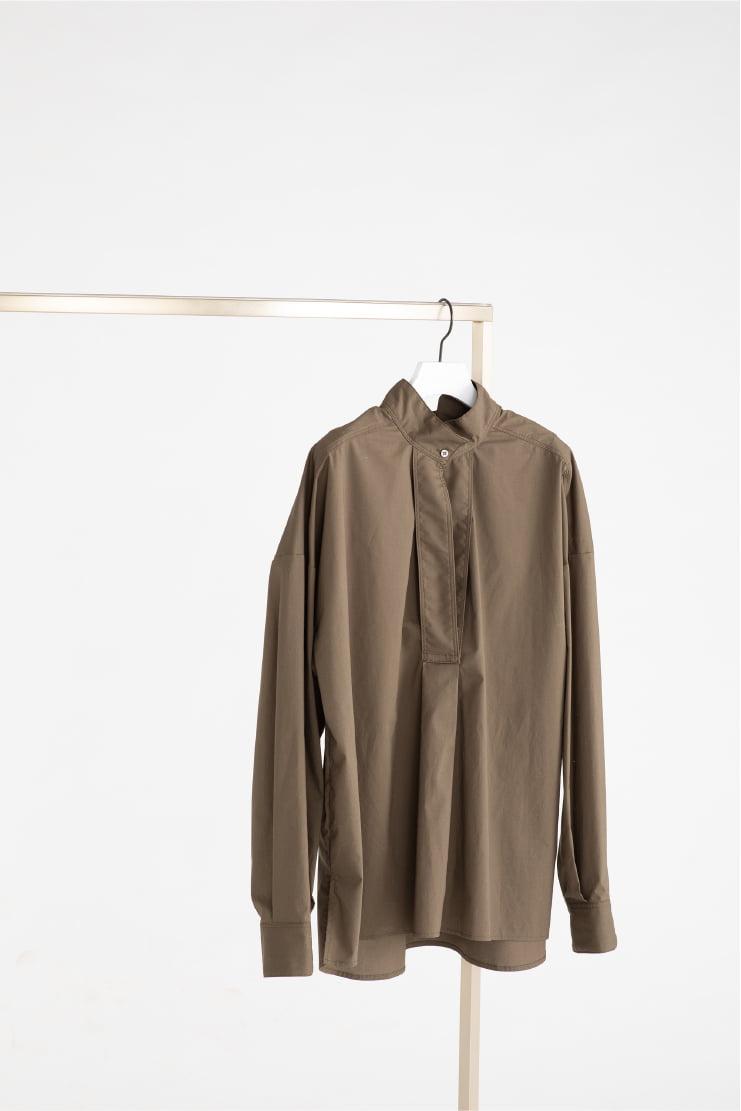 Wide Sleeve Military Shirt