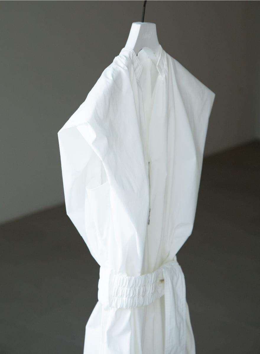 Puff Shoulder Dress on a hanger