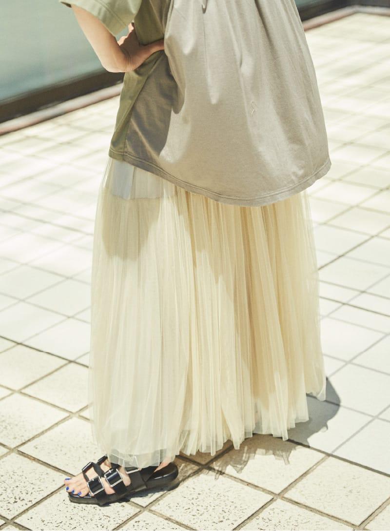 Tull Pleats Skirt & Back Flare Tops