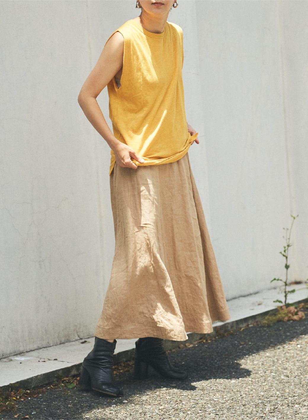 Online Limited Cut & Linen Skirt