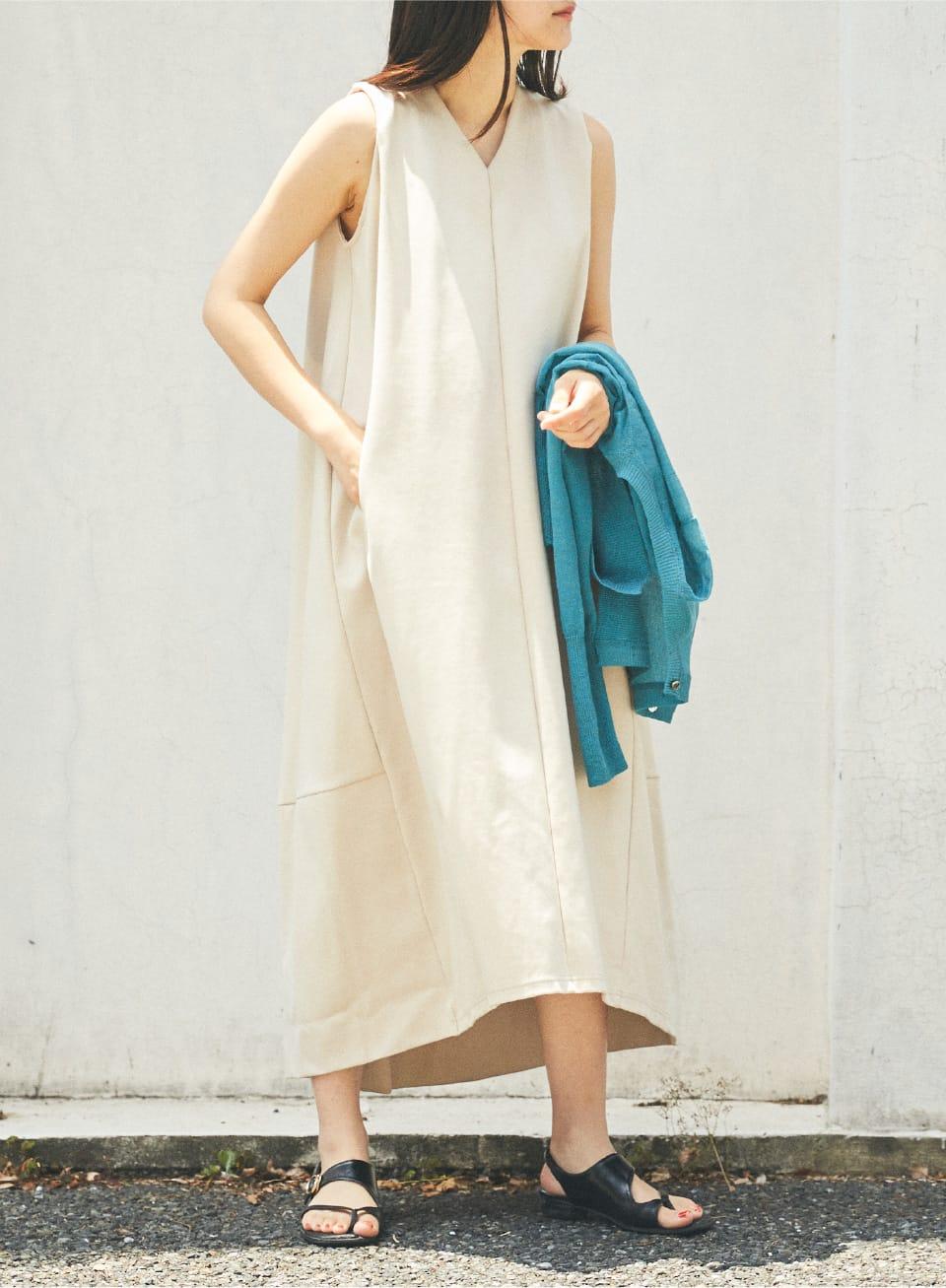 Cocoon Dress & Sheer Cardigan
