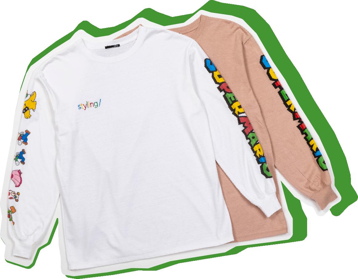 マリオプリントロングTシャツ