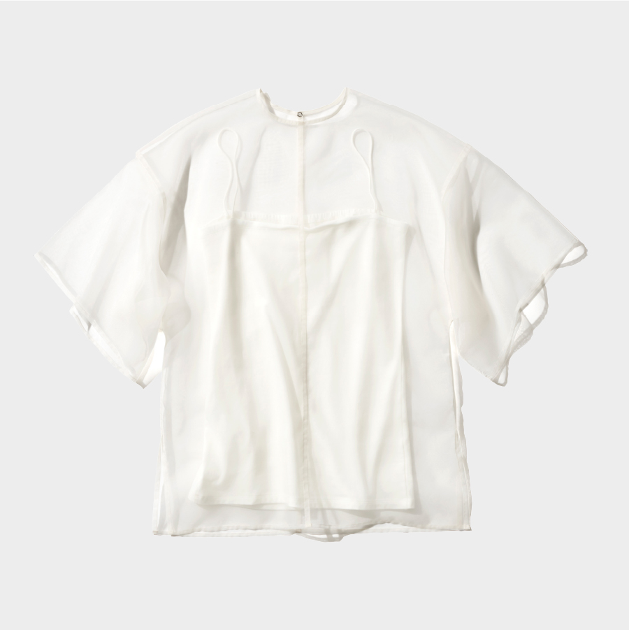 オーガンザアンサンブルTシャツ